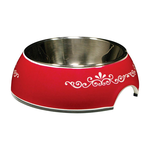 Catit Catit 2 In 1 Style Durable Cat Bowl Red Urban