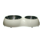 Catit Catit 2 In 1 Style Durable Double Cat Diner White