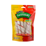Dingo Dingo Dog Treats Pork Hide Twist Sticks Jumbo