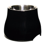 Dogit Dogit 2 In 1 Elevated Dog Dish Black