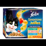 Felix Felix Wet Cat Food Sensations Jellies Fishy Selection 12 x 85g