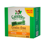 Greenies Greenies Grain Free Petite Dog Dental Treats 60 Pieces