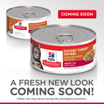 Hills Science Diet Hills Science Diet Adult Savory Turkey Entr E Canned Cat Food