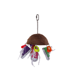 Kazoo Kazoo Bird Toy Split Coconut Shell With Sneakers