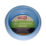 Living World Living World Ceramic Ergonomic Pet Dish Blue