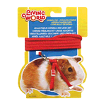 Living World Living World Guinea Pig Harness Lead Set Red