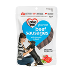 love em Love Em Gourmet Beef Sausages Dog Treats