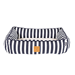 Mog and Bone Mog And Bone Bed Navy Hamptons Stripe