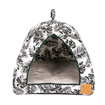 Mog and Bone Mog And Bone Igloo Black Tropical Leaves Print