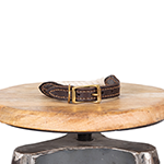 Mog and Bone Mog And Bone Leather And Brass Rope Collar Natural