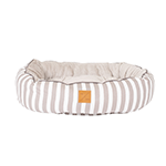 Mog and Bone Mog And Bone Reversible Circular Bed Latte Hamptons Stripe