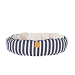 Mog and Bone Mog And Bone Reversible Circular Bed Navy Hamptons Stripe