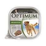 Optimum Optimum Adult Lamb Rice Dog Food Trays 12 x 100g