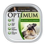 Optimum Optimum Dog Adult Chicken Rice Veges 12 x 100g