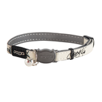 Rogz Glowcat Collar Black Jumping Cat