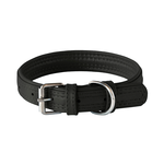 Rogz Rogz Leather Pin Buckle Collar Black