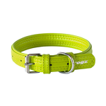 Rogz Rogz Leather Pin Buckle Collar Green