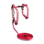 Rogz Rogz Sparklecat Harness Lead Red
