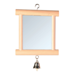 Trixie Trixie Mirror With Wooden Frame Bell