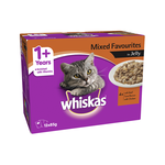 Whiskas Whiskas Wet Cat Food Adult Mixed Favourites Jelly 12 x 85g