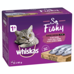 Whiskas Whiskas Wet Cat Food Adult So Fishy Seafood Servings Loaf 12 x 85g