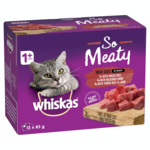 Whiskas Whiskas Wet Cat Food Adult So Meaty Meat Cuts Gravy 12 x 85g