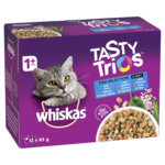 Whiskas Whiskas Wet Cat Food Tasty Trios Fish Selection
