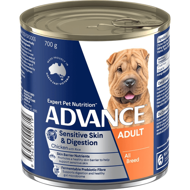 advance-adult-sensitive-all-breed-chicken-and-rice-wet-dog-food-cans primary