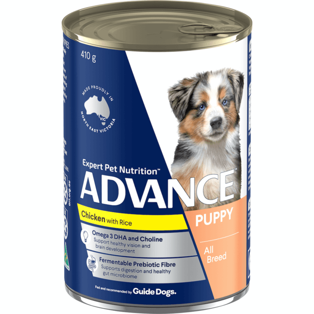 advance-puppy-plus-growth-chicken-and-rice-wet-dog-food-cans primary