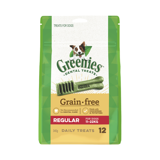 Greenies Grain Free Regular Dog Dental Treats 12 Pieces