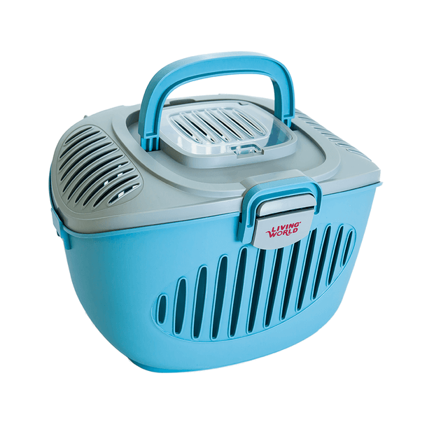 bb37a49f302 Living World Paws 2 Go Small Pet Carrier Blue And Grey | Pet Circle