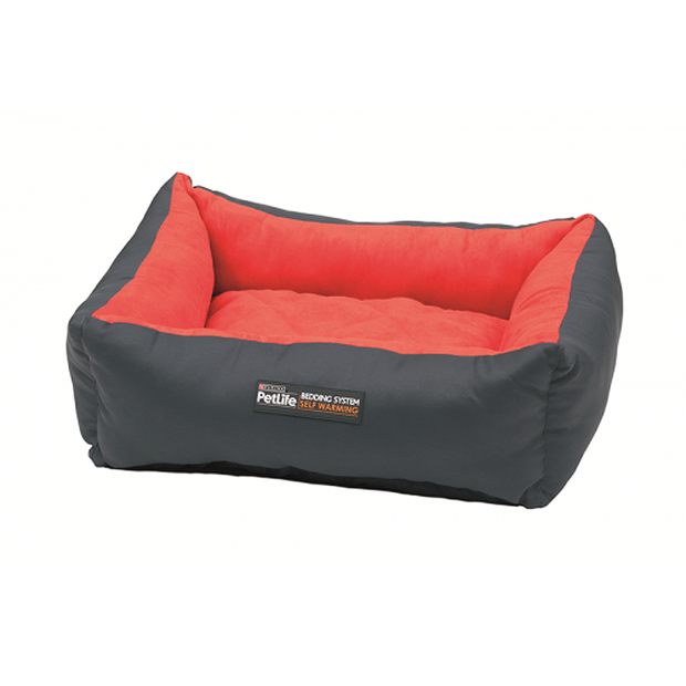 petlife-self-warm-cuddle-bed-red-charcoal primary