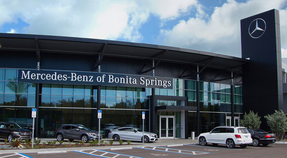 Mercedes-Benz of Bonita Springs front entrance