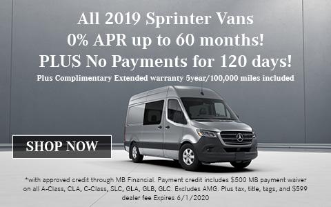 2019 Mercedes-Benz Sprinter Offer