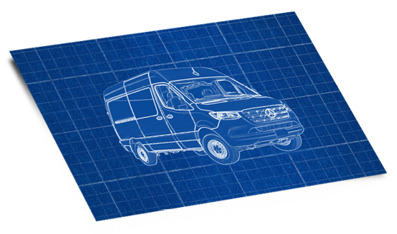 Blueprint for Sprinter Van