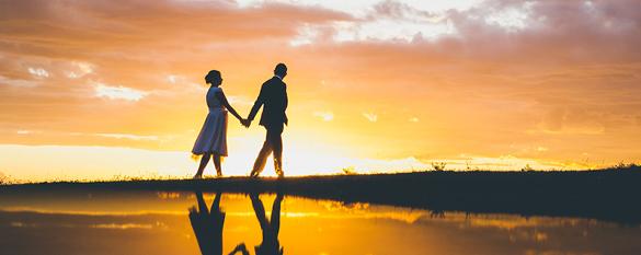 Couple Romantic Sunset