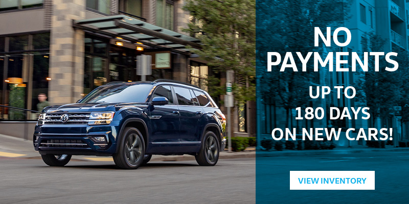 No payments up to 180 days on new cars!