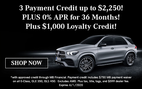 3 Payment Credit up to $2,250!
