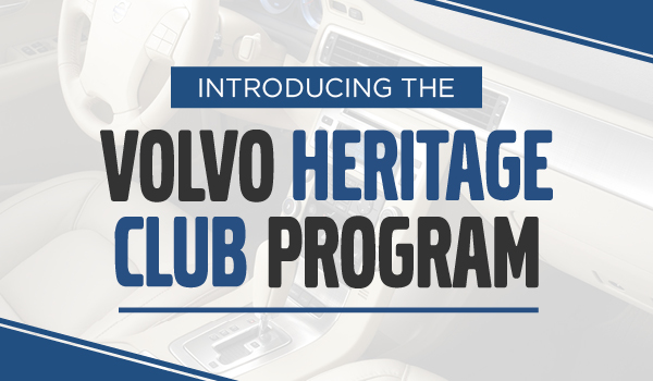 Introducing the Volvo Heritage Club Program