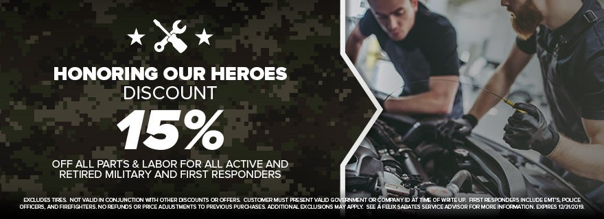 Honoring Our Heroes Discount