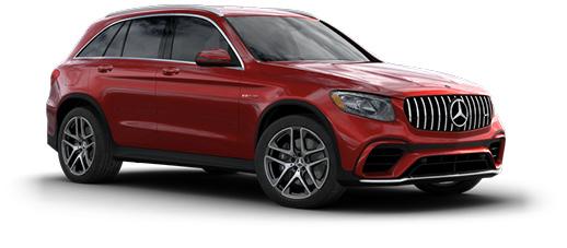 Red Mercedes-Benz GLC 300