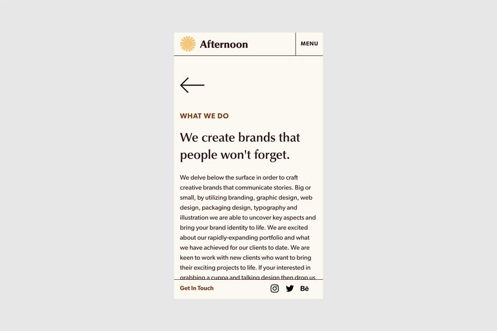 Afternoon Design Studio Website Screenshot