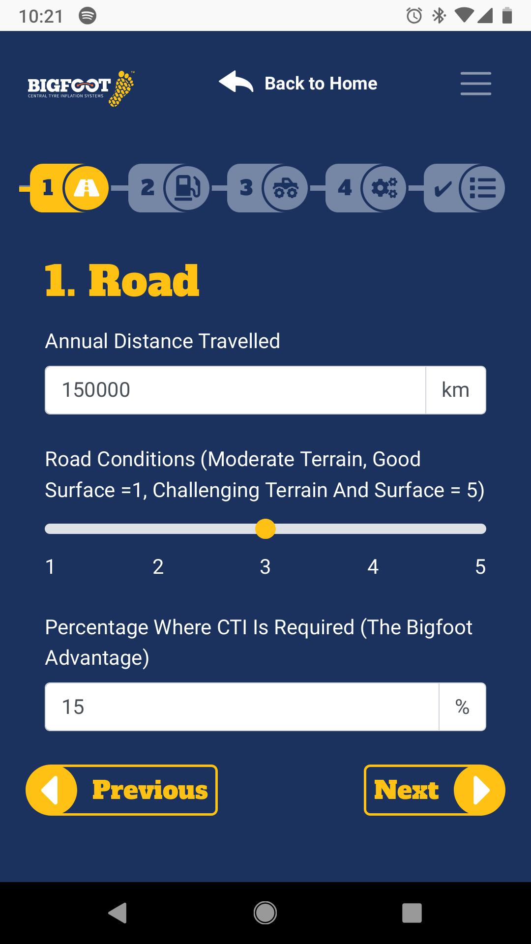 Bigfoot Benefits & Payback Calculator Website Screenshot