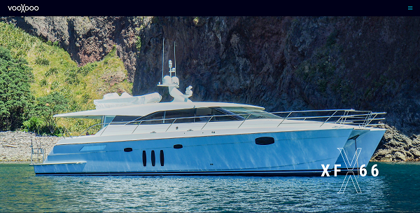 Voodoo Yachts Website Screenshot
