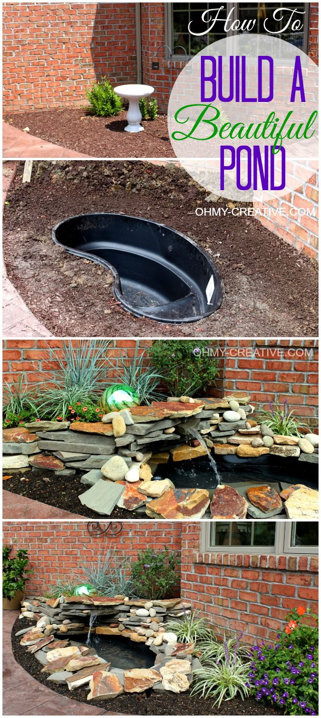 24 inspiring ideas for your water feature project diy backyard pond amp landscape water diy backyard pond and landscape water feature save a lot of money by building your own backyard pond solutioingenieria Image collections