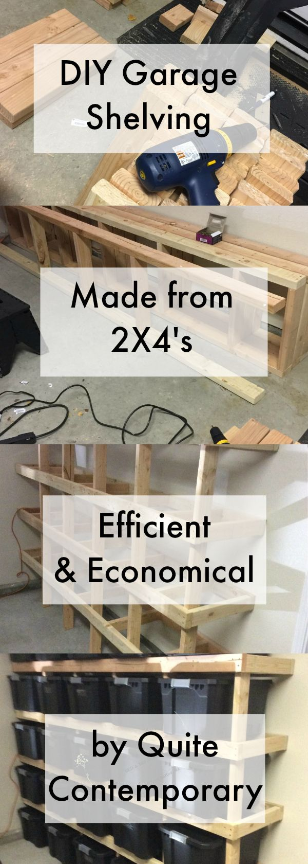 Diy phoenix home services inc inexpensive and economical garage organization designed on a three point system very easy to build with little to no waste and extremely strong easy diy solutioingenieria Choice Image