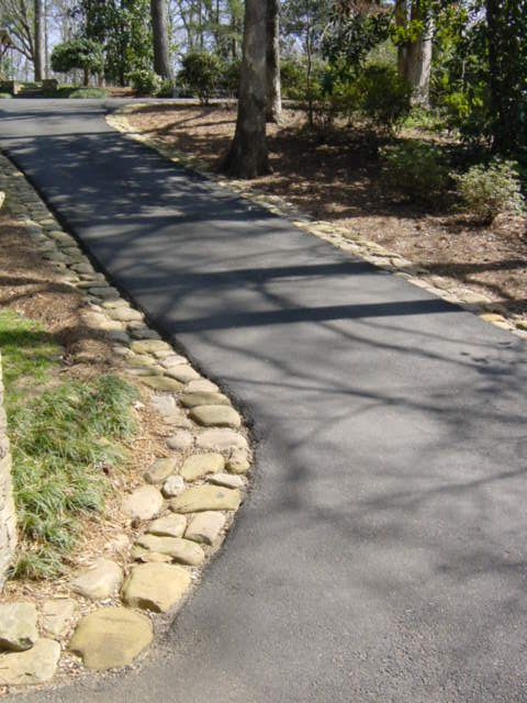 24 inspiring ideas for your driveway project asphalt with river rock edge example photo of driveway details around atlanta solutioingenieria Gallery