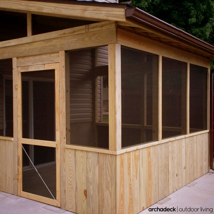 With A Smaller Level Yard, A Screened Room Over An Existing Patio Becomes A  Shaded Backyard Retreat. | Screened Rooms: Bring The Outside In