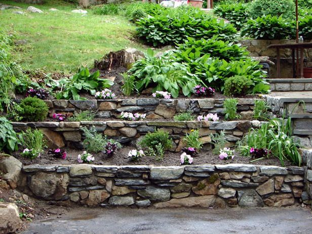 24 inspiring ideas for your retaining wall project how to build tiered garden walls diynetwork experts create a stone garden feature in the style of traditional country farm walls workwithnaturefo