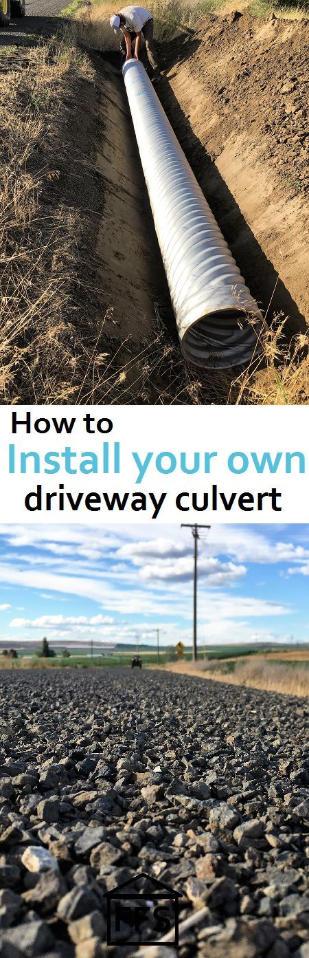 24 awesome diy driveway projects diy your own driveway entrance culvert for free save a few hundred bucks doing it yourself solutioingenieria Images